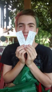 He has his tickets!!